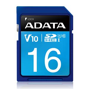 Adata 16GBSDHC UHS-I Card: Class 10