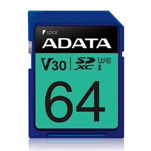 ADATA Premier Pro UHS-I U3 V30 SDXC Card 64GB