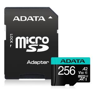 ADATA Premier Pro microSDXC UHS-I U3 A2 V30 Card 256GB + Adapter