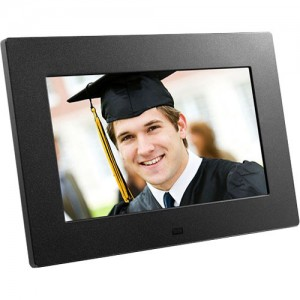 Aluratek 8-Inch Digital Photo Frame Black