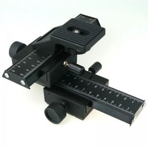 4-WAY MACRO FOCUSING RAIL SLIDER FOR