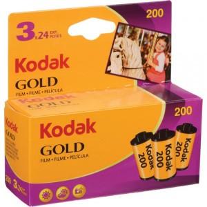 Kodak Gold 200 Color Negative Film 35mm Roll Film 3 pack 24 Exposures