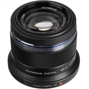 Olympus M.Zuiko 45mm f1.8 lens Black