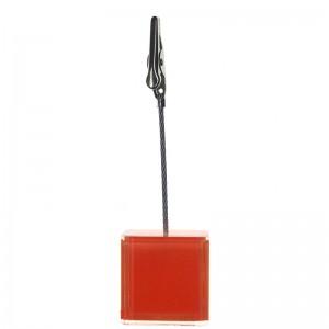 Wedding Table Number Sign Holder 6 Pack Square Design Orange