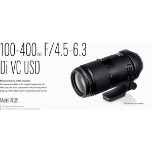 Tamron 100-400MM F4.5-6.3 DI VC USD CANON