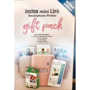 Fujifilm Instax Mini Link Photo Printer - Ash White Bundle