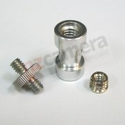 "1/4"" to 1/4 plus 1/4 - 3/8"" Adapter"