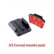 Curved Adhesive Mounts x3